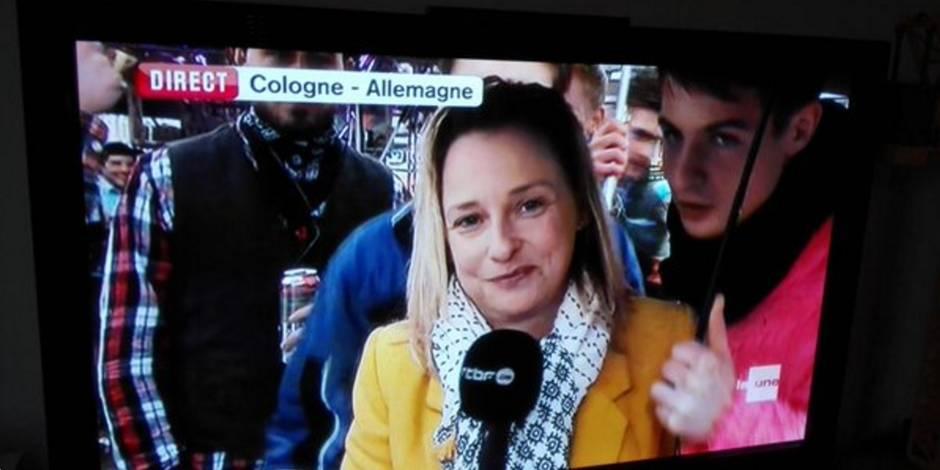 La journaliste de la RTBF Esmeralda Labye victime de gestes obscènes en plein direct à Cologne
