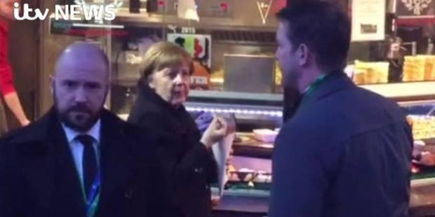 Angela Merkel repérée dans... une friterie bruxelloise (PHOTOS + VIDEO) - La DH