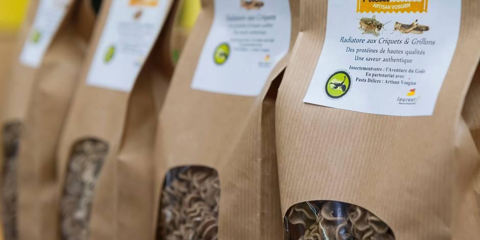 Grillon et cèpe... Des pâtes aux insectes et sans gluten