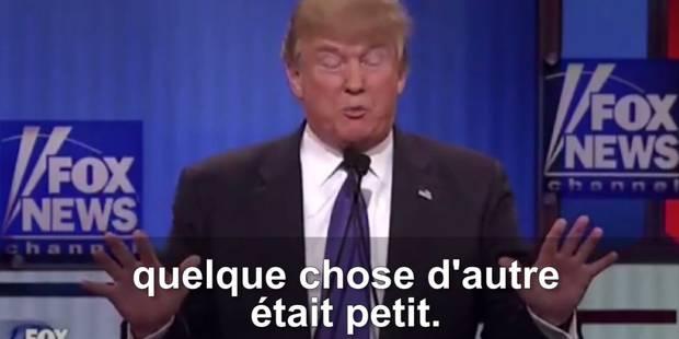 Trump parle de la taille de son sexe en plein débat républicain (VIDÉO) - La DH