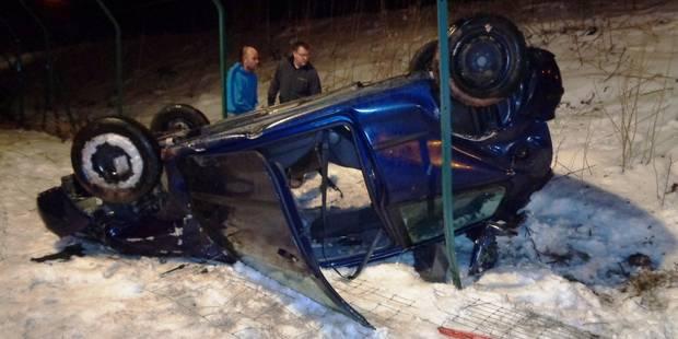 Accident spectaculaire sur l'autoroute E25 à Houffalize - La DH