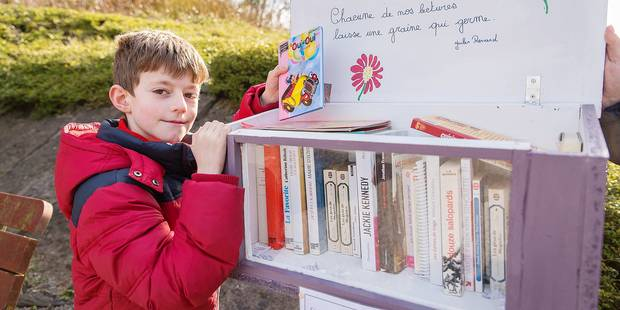 Inspiré, Jérôme installe sa boîte à livres - La DH