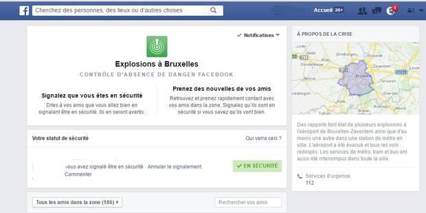 Facebook lance le Safety Check à Bruxelles - La DH