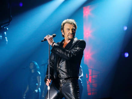 """Exclusif - Premier concert de la tournee """"Born Rocker Tour"""" de Johnny Hallyday a la patinoire Meriadeck de Bordeaux. Le 2 juin 2013 Reporters / Bpresse"""