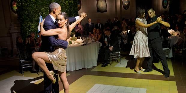 Le couple Obama s'essaie au tango - La DH