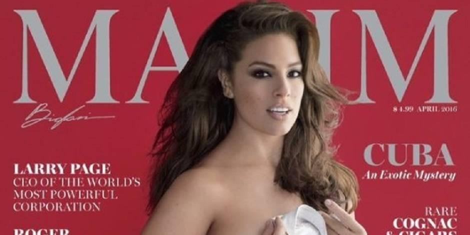 Ashley Graham à moitié nue pour Maxim (et à moitié photoshopée?)