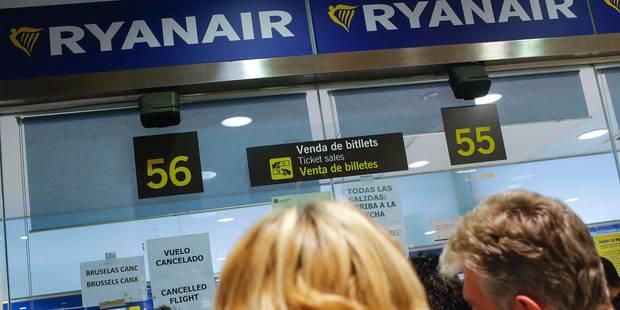 Tous les vols Ryanair seront op�r�s au d�part de Charleroi jusqu'au 7 avril inclus