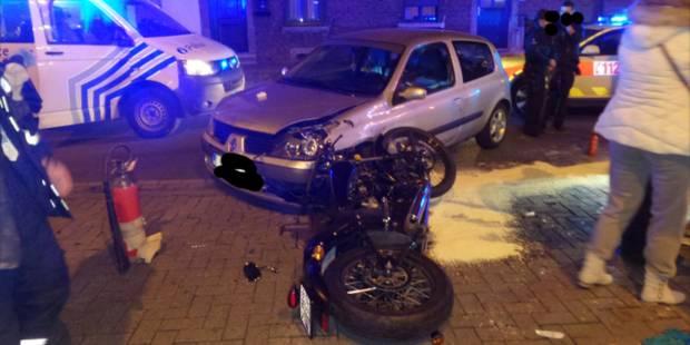 Un motard grièvement blessé à la jambe à Dampremy - La DH