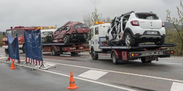 Collision en Espagne: 7 personnes tuées dont cinq résidant en France - La DH