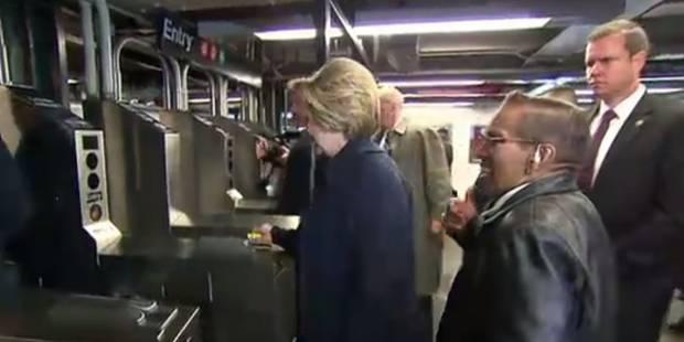Hillary Clinton a des difficultés à prendre le métro (VIDEO) - La DH