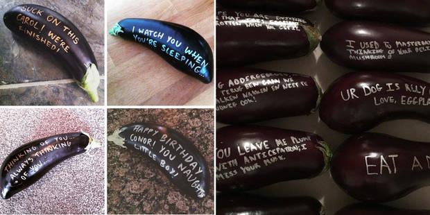 """""""100% phallique, 100% anonyme, 100% dérangeant"""", l'aubergine coquine à s'envoyer - La DH"""