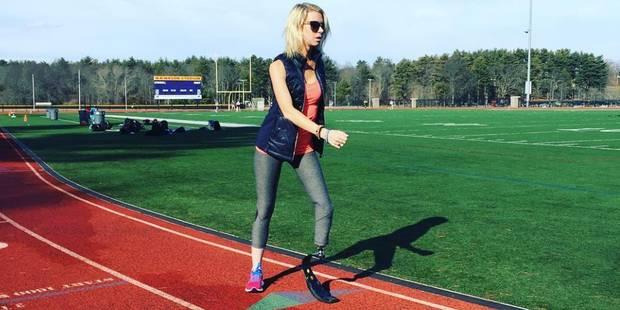 Adrianne a perdu une jambe dans les attentats de Boston mais a couru le marathon 3 ans après - La DH