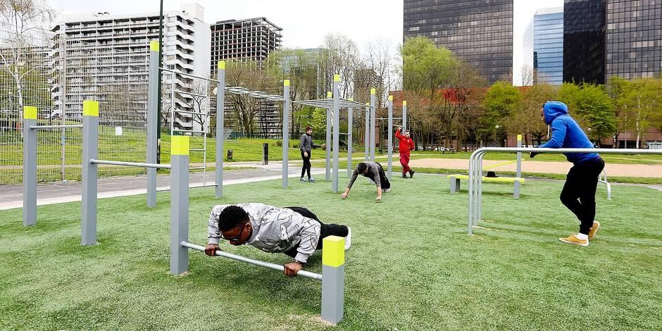 Un premier parc de streetworkout à Bruxelles-Ville