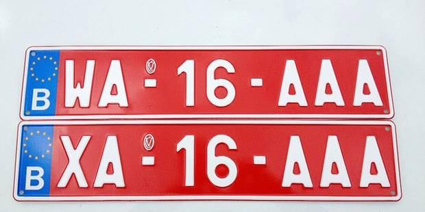 Dès le 2 mai, des plaques commençant par X et W - La DH