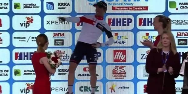 Sur le podium, ce cycliste se lance dans une danse complètement folle (VIDEO) - La DH