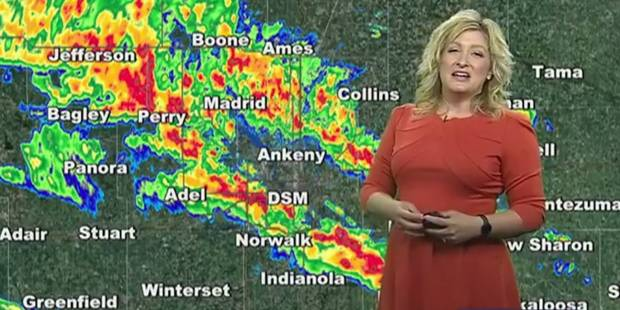 Elle présente la météo, quand soudain... (VIDEO) - La DH