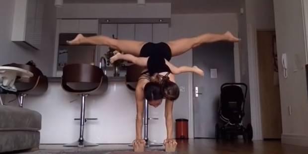 Magique, quand une maman acrobate fait ses exercices avec ses enfants - La DH