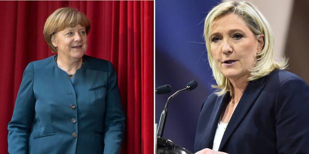 Merkel veut lutter contre la montée du FN en France, Marine Le Pen réagit - La DH