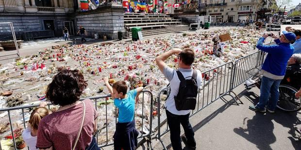 Attentats de Bruxelles: le mémorial aux victimes enlevé aujourd'hui - La DH