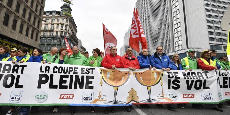 Grève au finish: l'État économise, les syndicats trinquent - La DH