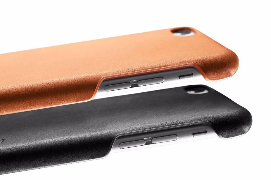 Un étui à smartphone en cuir de la marque Mujjo. A shopper sur www.mujjo.com, 39.95€