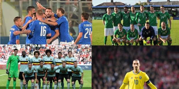 Italie, Eire, Suède: découvrez les 23 de chacun de nos adversaires en infographies ! - La DH