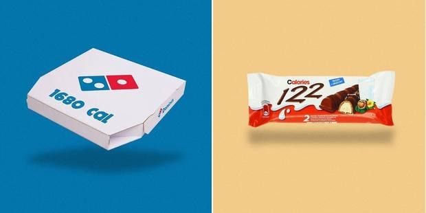 Le logo des marques remplacé par leur nombre de calories - La DH