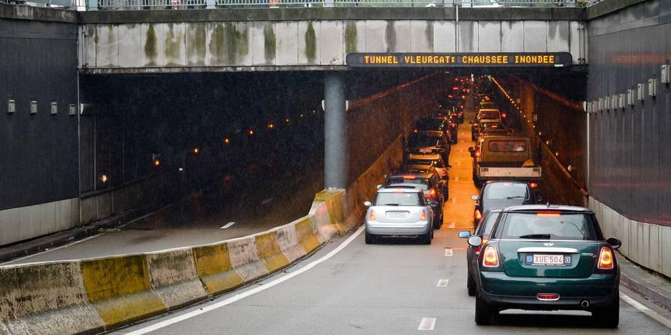Inondations dans certains tunnels de Bruxelles à cause de la pluie