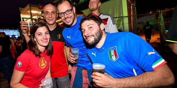 Belle ambiance entre supporters belges et italiens à la veille du match à Lyon (PHOTOS + VIDEOS) - La DH
