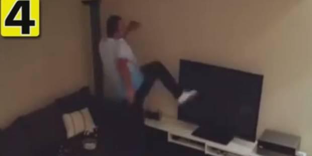 Piégé par sa copine, ce supporter turc explose sa télévision (VIDEO) - La DH