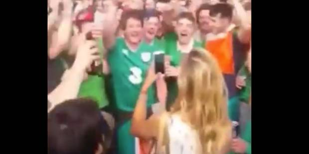 Quand les supporters irlandais tentent de séduire une jeune femme (VIDEO) - La DH