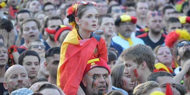 Tournai: 5.500 supporters face à l'écran géant pour Belgique-Suède (PHOTOS) - La DH
