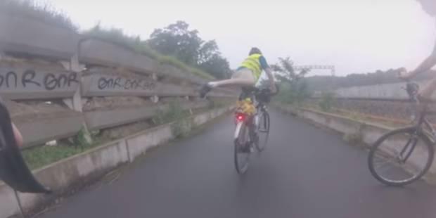 Pas question de rouler à vélo le long du RER - La DH