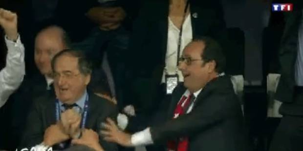 François Hollande a craqué après le 2ème but de Griezmann (VIDÉO) - La DH