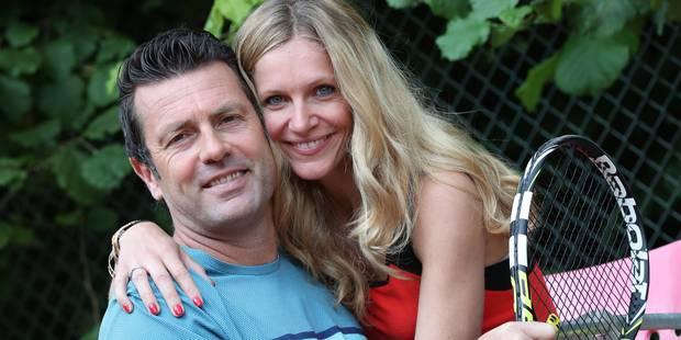 Sandrine Corman raconte sa rencontre avec son mari... sur un terrain de tennis ! - La DH