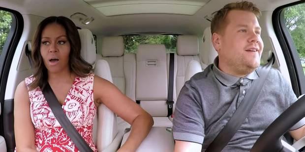 Michelle Obama chante du Beyoncé à tue-tête en mode karaoké dans une voiture (VIDEO) - La DH