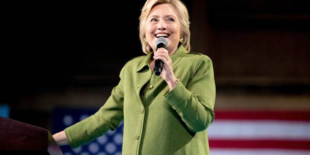 Hillary Clinton, élue candidate démocrate, salue une étape historique pour les femmes - La DH