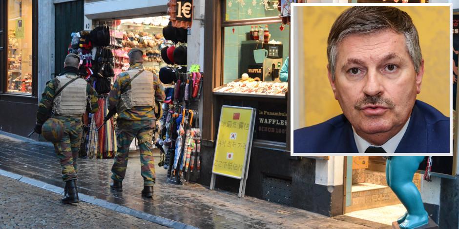 """Le coup de gueule du commissaire Brabant: """"La répartition des militaires en rue n'est plus objective!"""" - La DH"""