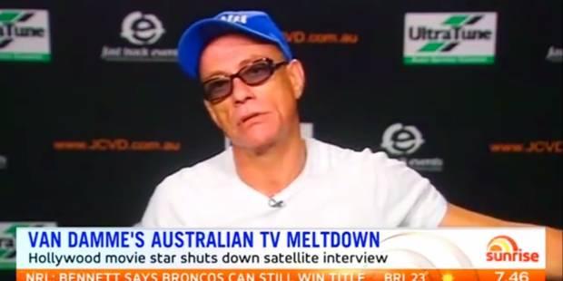 Faché, Jean-Claude Van Damme quitte un plateau TV pendant une interview (VIDEO) - La DH