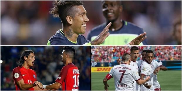 Amicaux: le PSG explose Leicester, le Bayern croque l'Inter, Liverpool et Origi battent le Milan (VIDEOS) - La DH