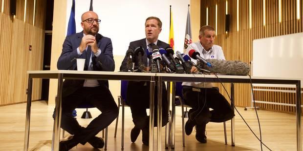 """Attaque à la machette à Charleroi : Michel et Magnette saluent """"le courage exemplaire"""" des policières - La DH"""