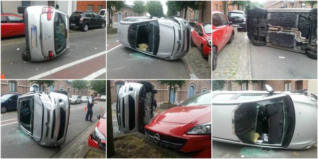 Accident spectaculaire à Mons - La DH