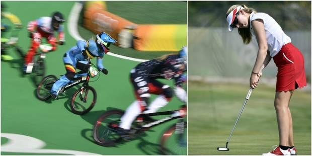 Les Belges à Rio: Elke Vanhoof 6ème de la finale du BMX, Chloé Leurquin redresse la barre lors du 3e tour de golf - La D...