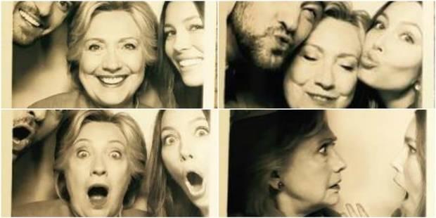 Hillary Clinton au photomaton avec Justin Timberlake et Jessica Biel - La DH