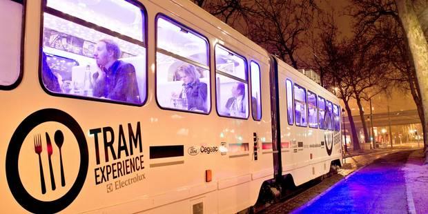 Le Tram Experience revient à la gastronomie belge - La DH