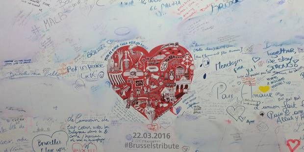 Maelbeek: un panneau en mémoire des victimes des attentats totalement dégradé (PHOTOS) - La DH
