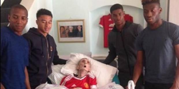 Le beau geste des joueurs de ManU, partis à la rencontre d'un supporter mourant - La DH