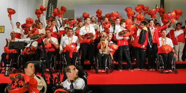 Jeux Paralympiques: retour triomphal pour la délégation belge (PHOTOS et VIDEO) - La DH