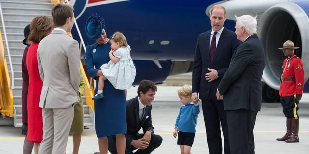 Le prince George met un vent à Justin Trudeau - La DH