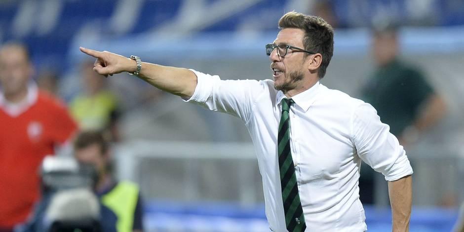 """Eusebio Di Francesco, le coach de Sassuolo: """"Pas venus à Genk pour un 0-0"""""""